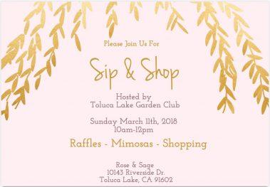 Garden Club Sip & Shop