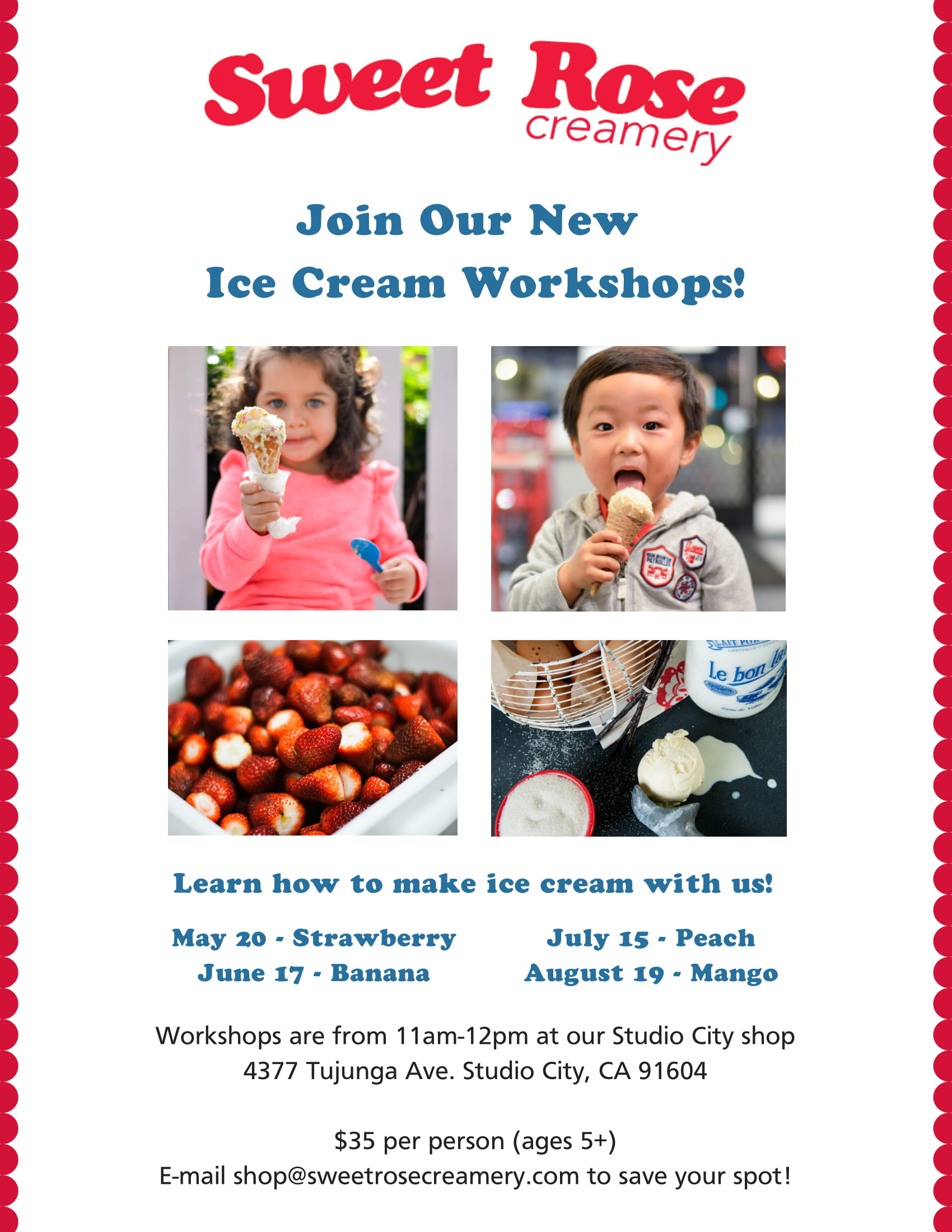 SRC Ice Cream Workshop